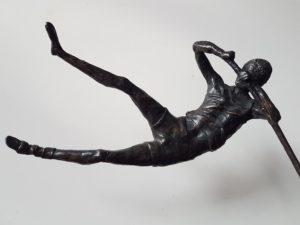 jumping, future, next step, diploma, bronzen fierljepper, fierljep award, friese award, leap, sculpture bronze, sculpture leap