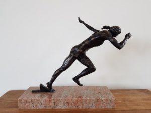 dafne schippers brons start beeld bronze start