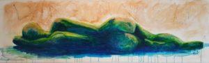lying naked painting schilderij liggend naakt kunstvanmariekedejong