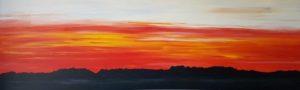 Ankeveen landschap zonsondergang schilderij kunstvanmariekedejong