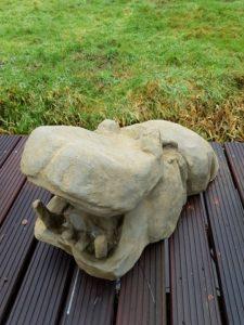 acrylic one rust roest happy hippo tuinbeeld kunstvanmariekedejong