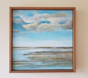 Waddenzee landschap 40 x 40 cm