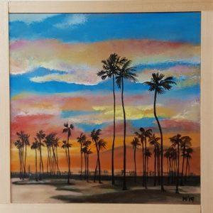 LA California landschap palmbomen palmtree 20 x 20 cm