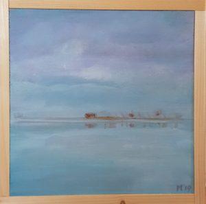 Tjeukemeer winter landschap ijskoud 20 x 20 cm