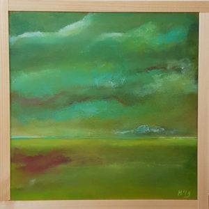 groen landschap 20 x 20 cm