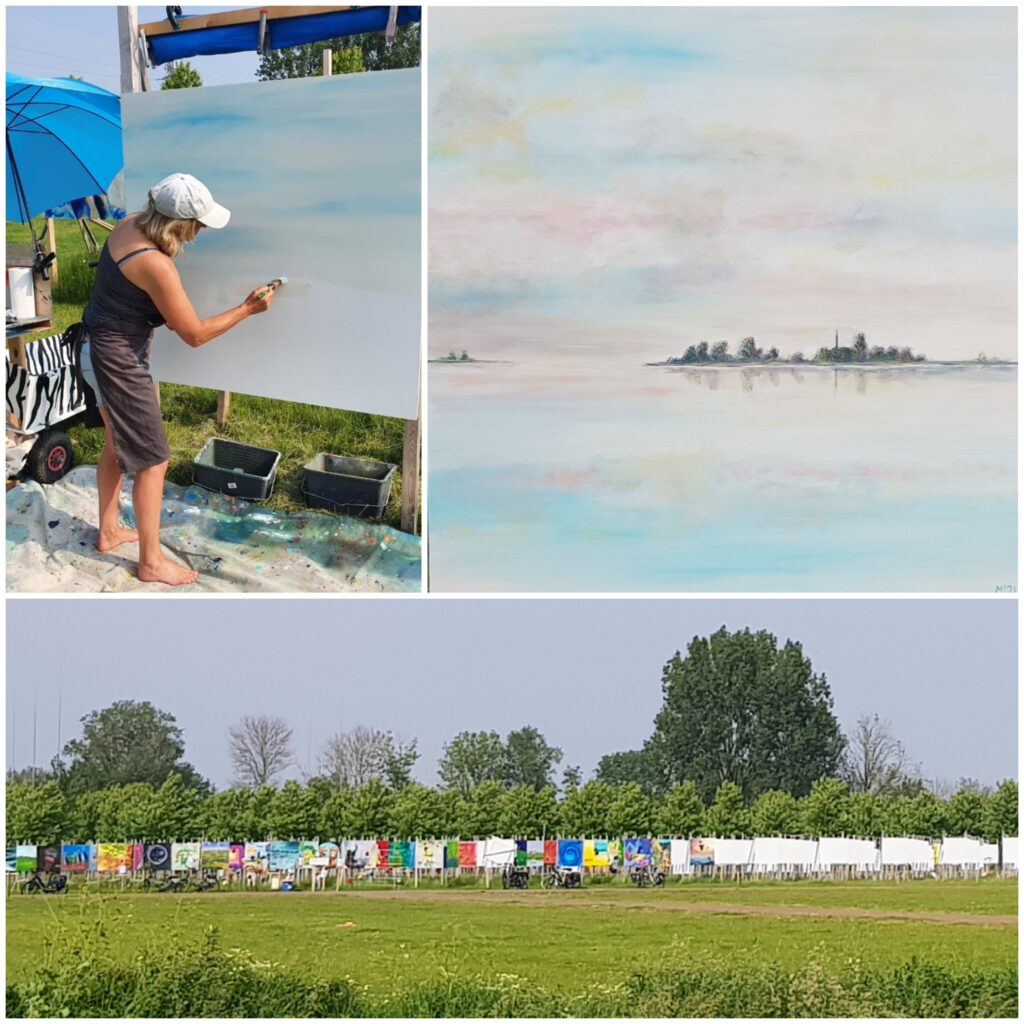 painting, The Colorfield Performance, Elst 2021, Fryske Marren, schilderij friesland, friese meren